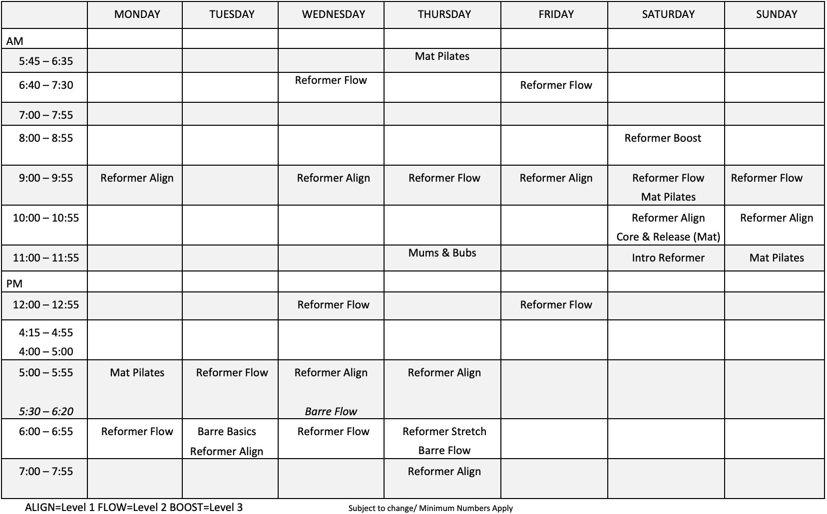 Encore-Timetable-Jan-2020