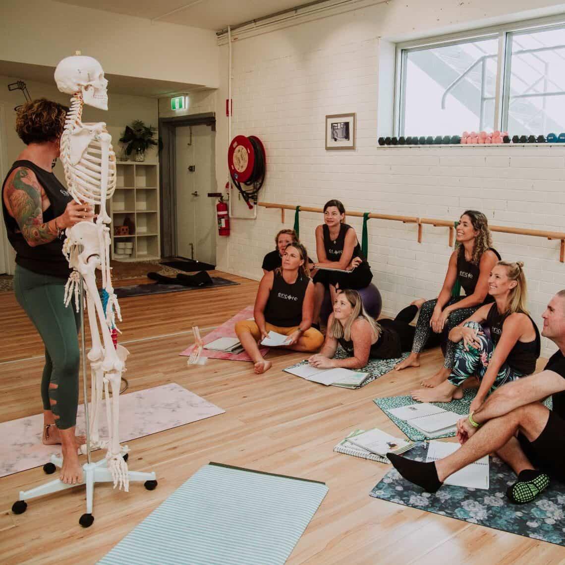 Pilates teacher training square