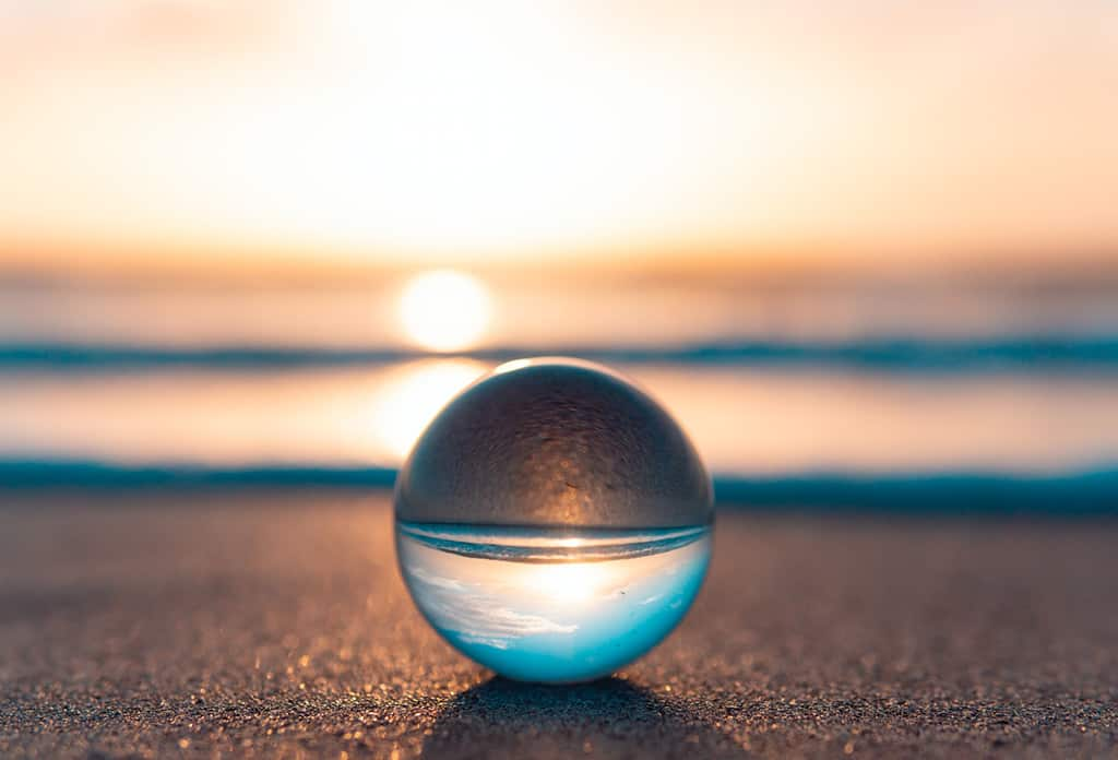 sunset with ball